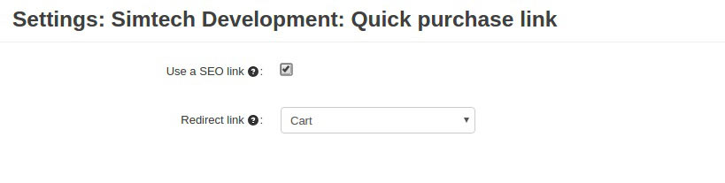 Quick Purchase Link Settings
