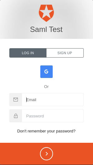 SAML Single Sign-On Auth