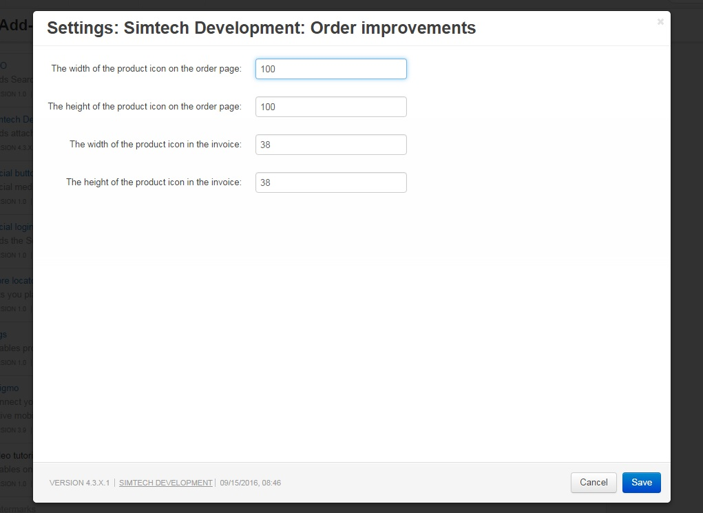 order improvements