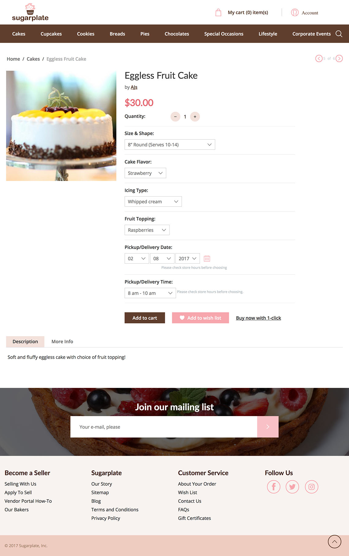 product sugarplate online store
