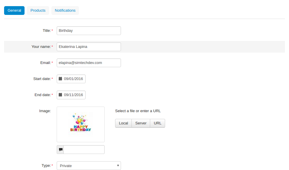 Gift Registry Add On For CS Cart