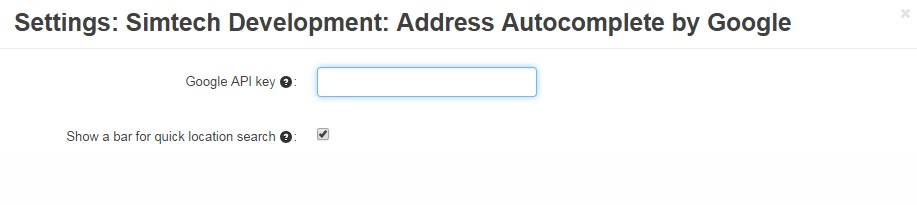 Address Autocomplete by Google