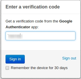 Two Factor Authentication by Google