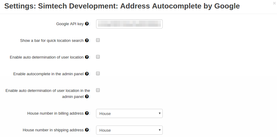 Address Autocomplete by Google