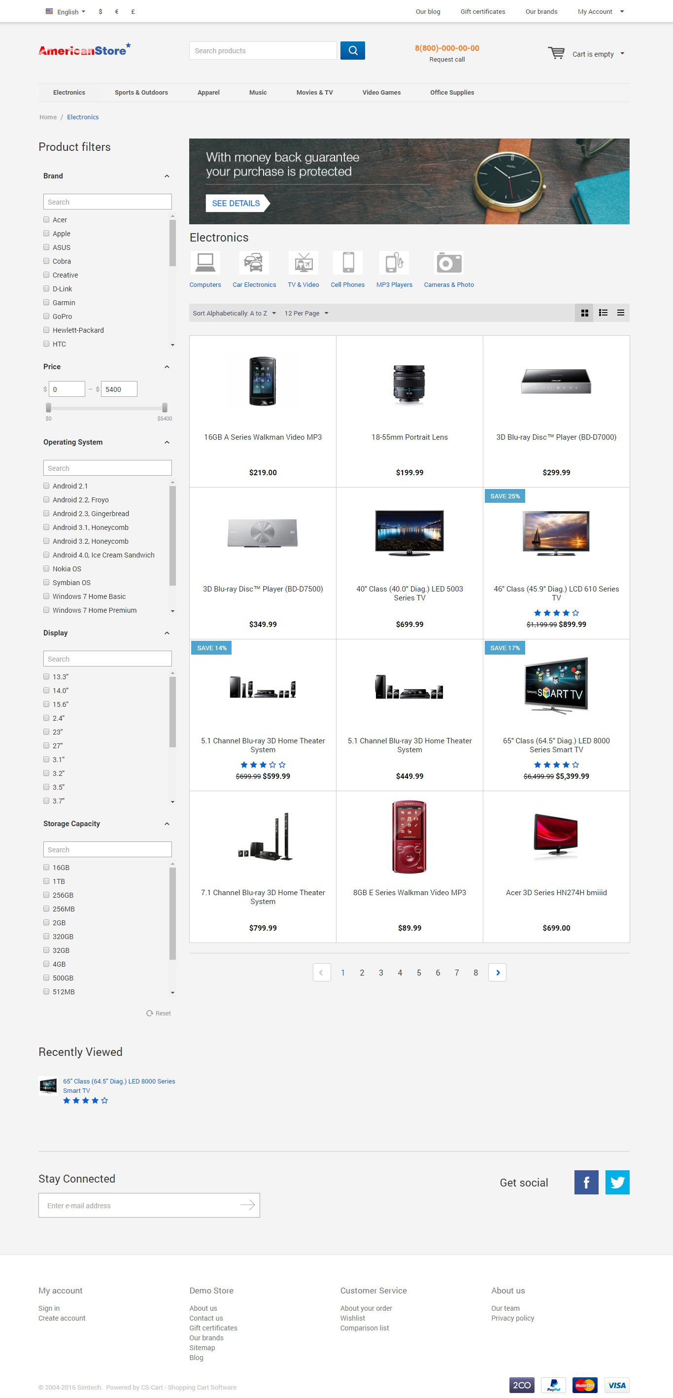 American Theme Product Page