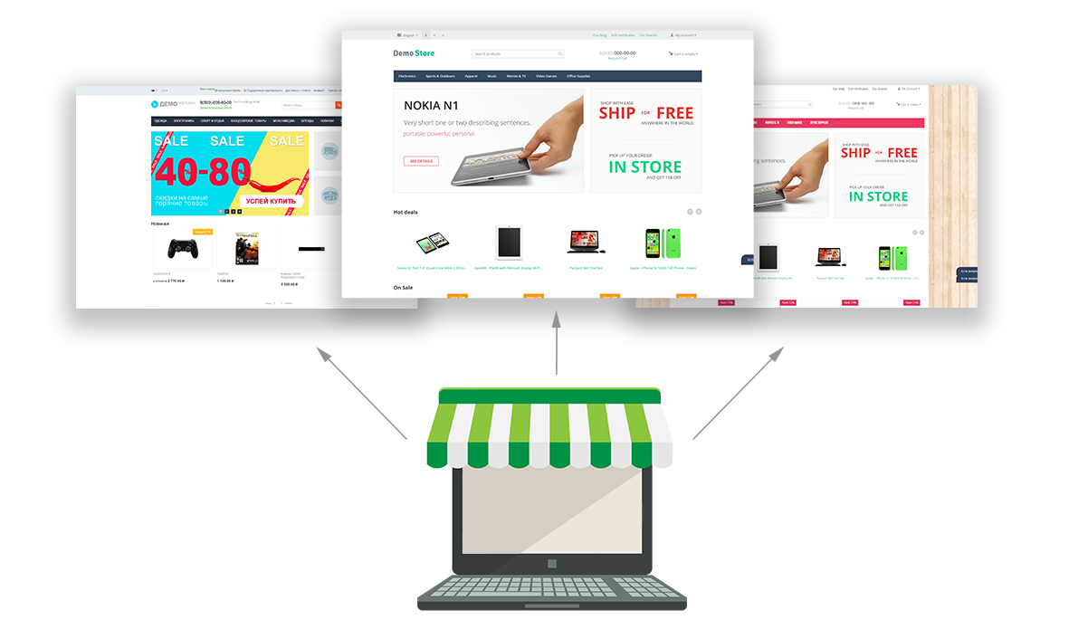 ecommerce multiple storefronts