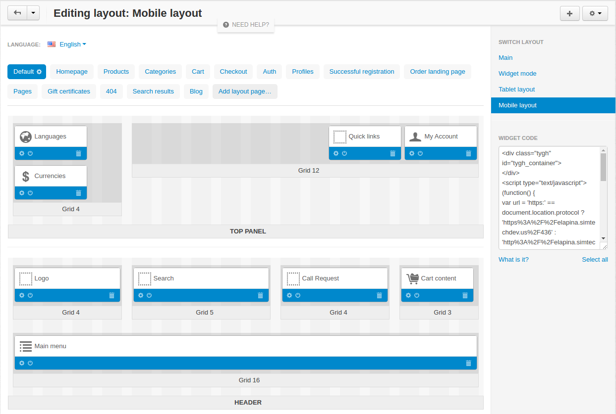 Create Layouts for Devices
