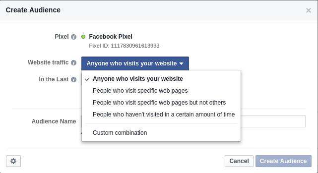 Facebook Pixel Audience